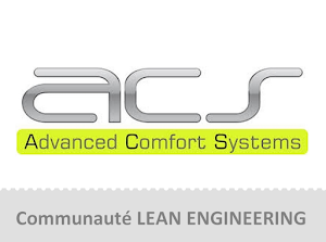 Frédéric MASSON - Product Development Manager Stéphane MOREAU - Product Development Director chez ACS Group interviendront pour la communauté Lean Engineering lors du Lean Tour Région Centre 2017