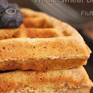 Bran waffles | Whole wheat bran waffles