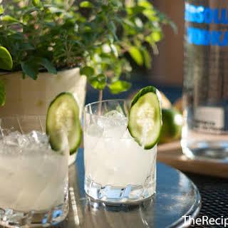 Basil, Cucumber & Lime Cocktail.