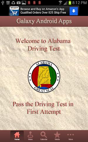 android Alabama Car Driving Test Screenshot 1