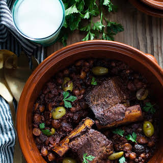 Braised Short Rib Tagine with Figs & Almonds.