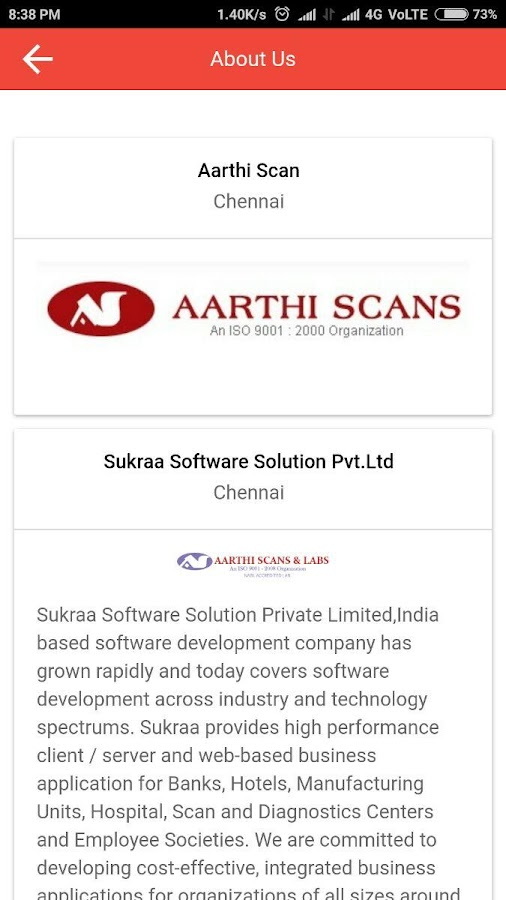 Aarthi Scans and Labs- screenshot