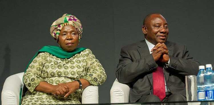 Nkosazana Dlamini-Zuma and Cyril Ramaphosa. Picture: GCIS