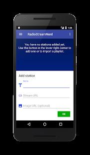 RadioStreamNerd - Stream your URLs - náhled