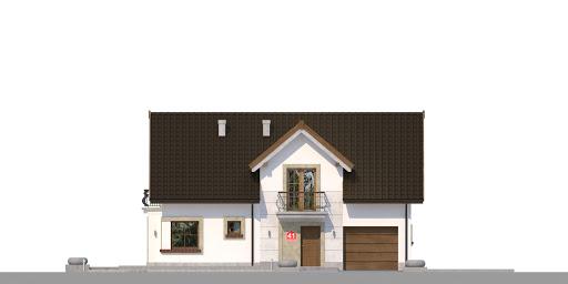 Dom przy Alabastrowej 41 - Elewacja przednia