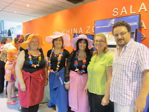 Photo: Beach theme was evident at the ABS Congress at the Alianza Montevideo, Feb 19
