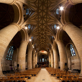 Tewkesbury Abbey  by Roland Shanidze - Buildings & Architecture Other Interior ( interior, vertorama, england, hdr, church, roland shainidze, cathedral, anglican )
