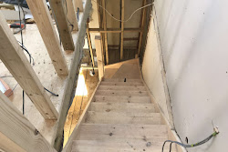 a staircase in the process of being built