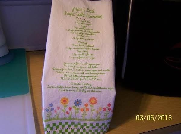 Mom's Best Bake Sale Brownies...cin Recipe