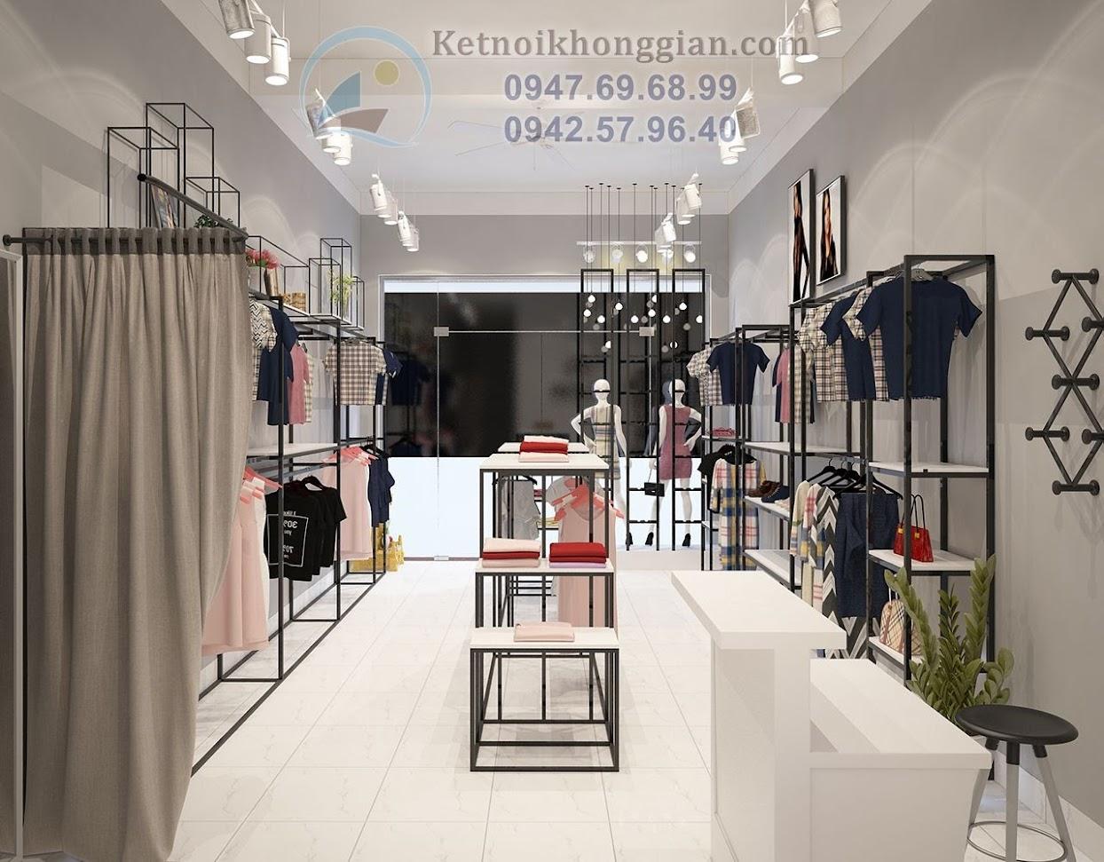 thiết kế shop thời trang công sở nữ ấn tượng sâu sắc