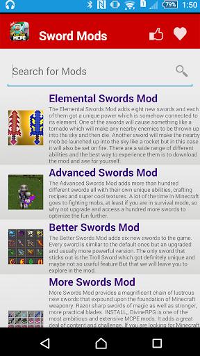 免費下載娛樂APP SWORD MODS For MCPE app開箱文 APP開箱王