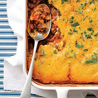Cornbread-topped Beef and Chorizo Pot Pie
