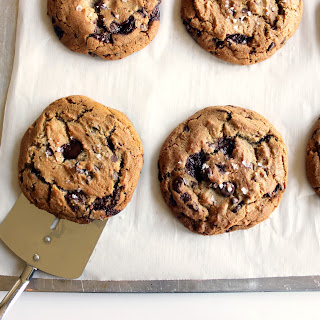 Dark Chocolate Brown Butter Cookies