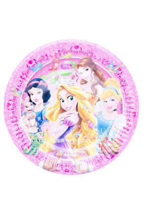 Prinsesstallrikar, 8 st