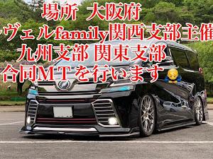 ヴェルファイア AGH30W のカスタム事例画像 kazu_rアルヴェルfamily九州支部支部長さんの2019年05月17日22:14の投稿