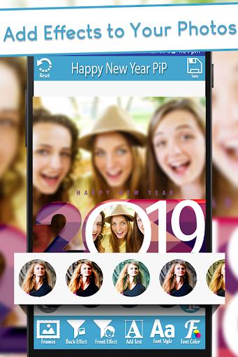 Happy New Year 2019 - PIPPhotoFrames 1.0 screenshots 3