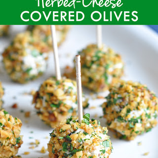 Herbed-Cheese Covered Olives