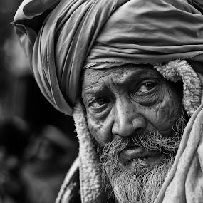 Gangasagar transit camp by  Bivahasutra Wedding Photography - People Portraits of Men ( gangasagar, kumvafair, allahabad, india, senior citizen, sadhu, indian saint, kumvmela, kumbh )