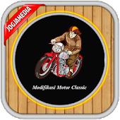 Design classic motorcycle new