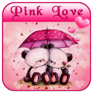 Pink love bear theme android apps on google play pink love bear theme voltagebd Images