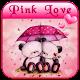 Pink Love Bear Theme apk