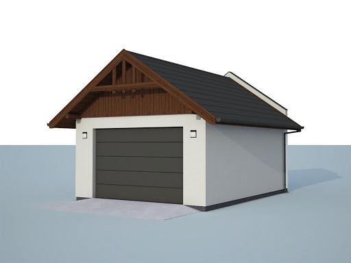 projekt G339B - garaż w granicy
