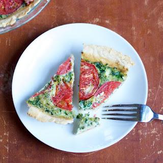 Dairy-Free Tomato and Pesto Quiche