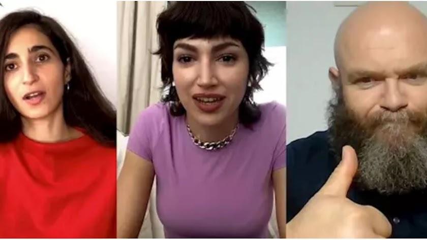 Alba Flores, Úrsula Corberó y Darko Peric.