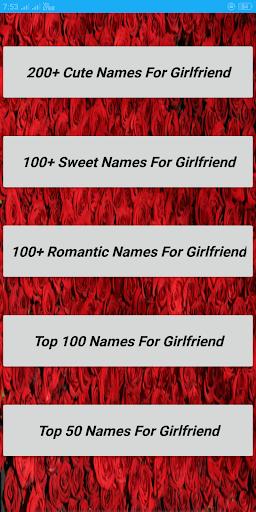 romantic names for girlfriend