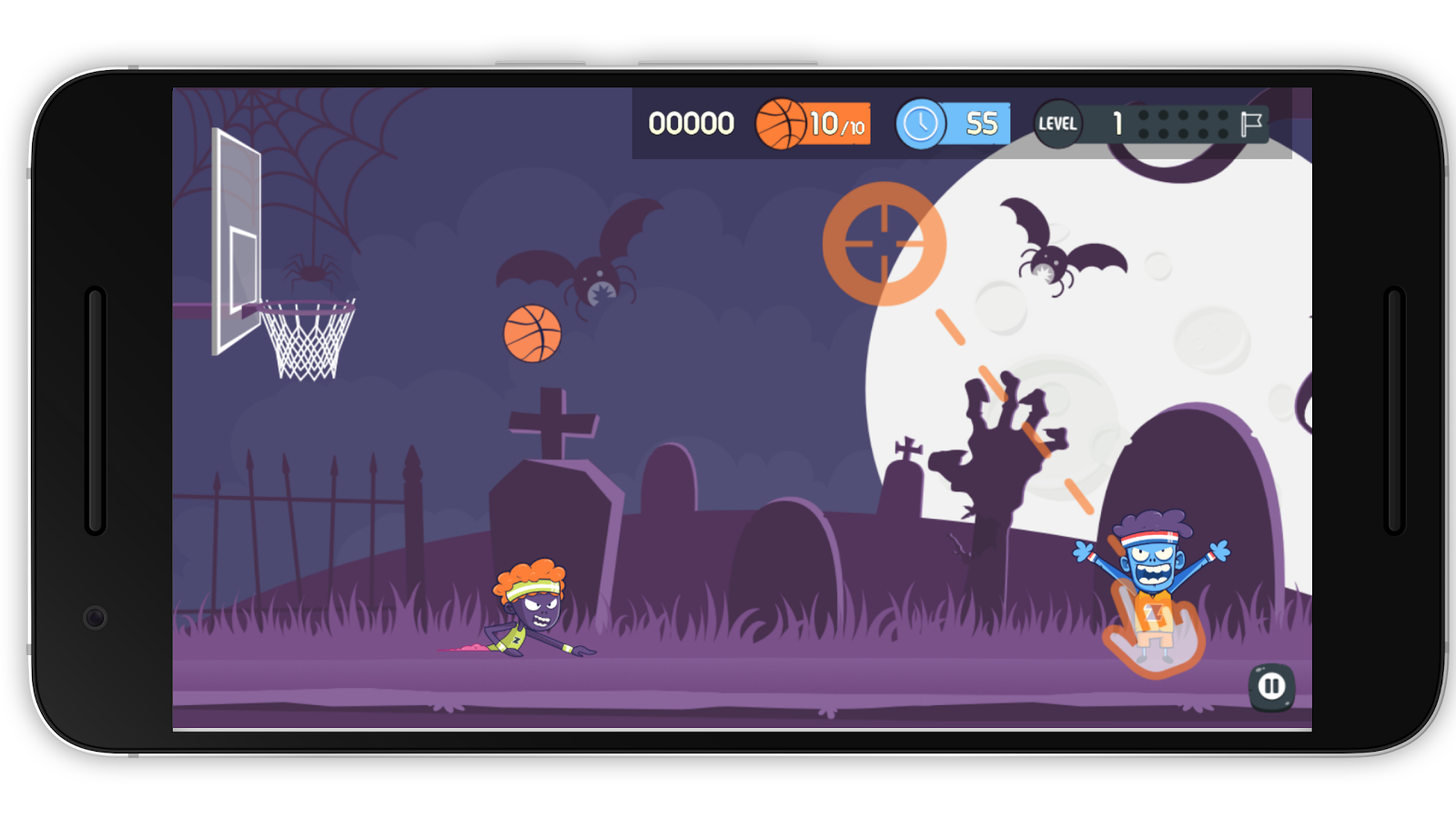 Zombies vs Basketball- screenshot
