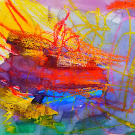 Inner Self by Vijay Govender - Abstract Fire & Fireworks ( art, abstract art )