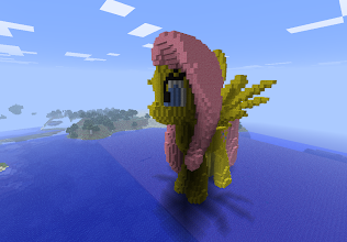 "Photo: ""Fluttershy"" from ""My little Pony Friendship is Magic"", built by Cayoke"