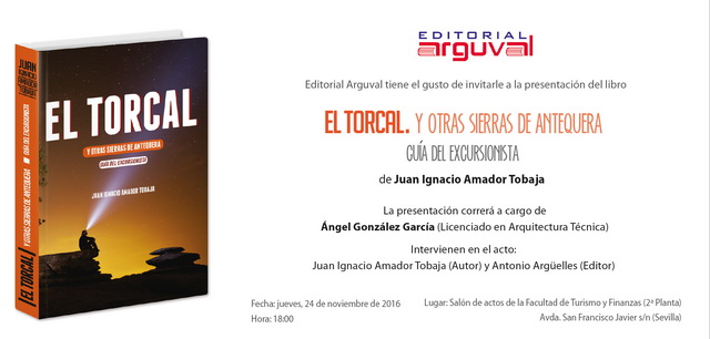 Presentacion en Sevilla libro El Torcal de Juan Ignacio Amador Tobaja