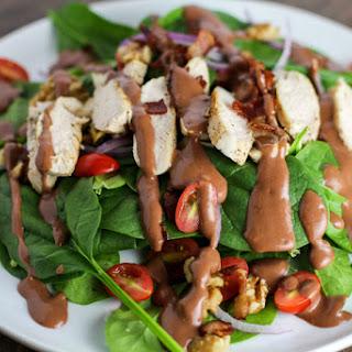 Sauteed Chicken Salad with Raspberry Bacon Vinaigrette Recipe