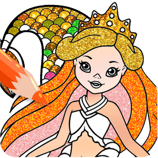 Mermaid Coloring Pages Glitter Google Play De Uygulamalar