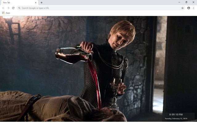 Cersei Baratheon New Tab Theme