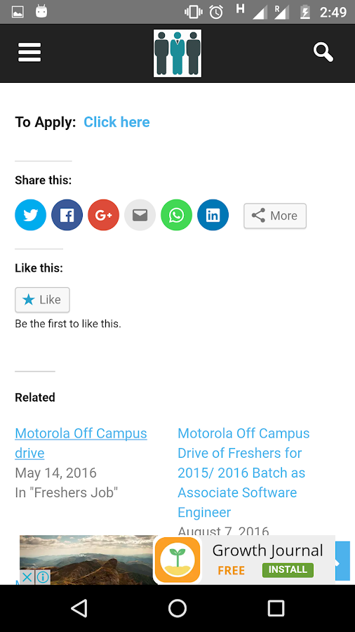 OffCampusJobs4u : Job Updates- screenshot
