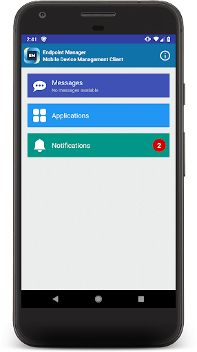 Endpoint Manager - MDM Client App Report on Mobile Action