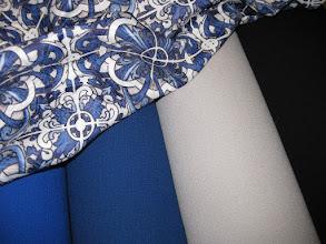 Photo: Ткань: двойной креп нат. шерсть, ш. 140 см., цена 5000р. Ткань: металассе, ш. 140 см., цена 4000р.