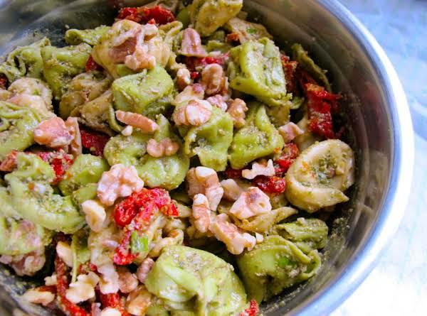 Pesto Tortellini Salad With Balsamic Vinaigrette