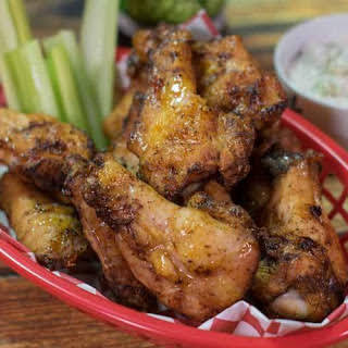 Hickory Smoked Chicken Wings.