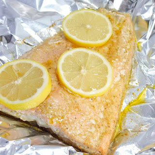 Simple Garlic and Herb Salmon.