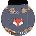 Cartoon Fox Theme: Cute animal Screensaver Icon