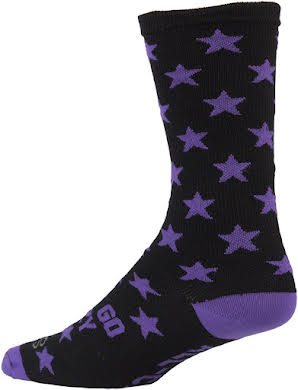 All-City Lets Go Crazy Sock: Purple/Black alternate image 1