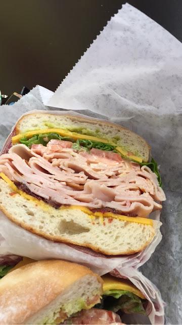 Huge overstuffed #17 on GF bread! 😍