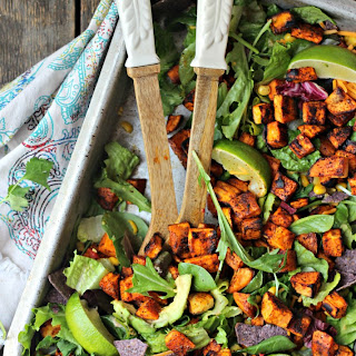 Spicy Sweet Potato Taco Salad