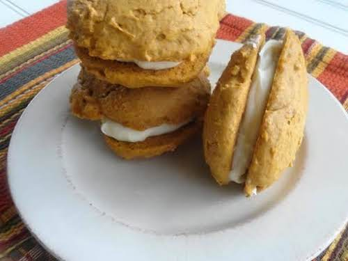 """Pumpkin Whoopie Pies """"I made these last year and they flew off..."""