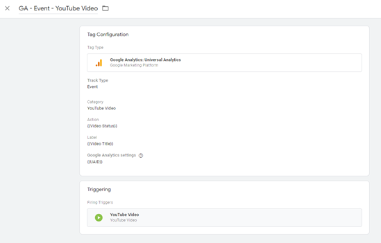 can i track videos in google tag manager?