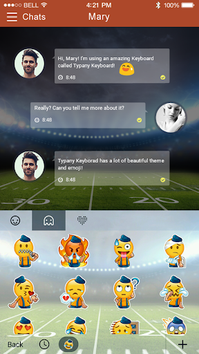mod American Football Emoji Theme 2.5 screenshots 4
