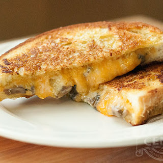 Grilled Cheese with Mushrooms.